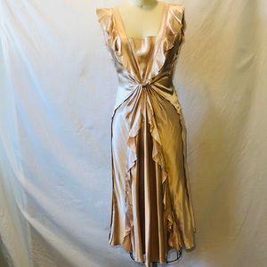 Alberta Feretti Blush Satin dress.